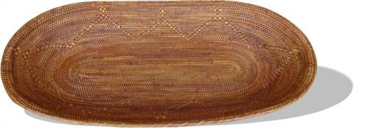 Langer Brotkorb mit feinem eingewebtem Muster