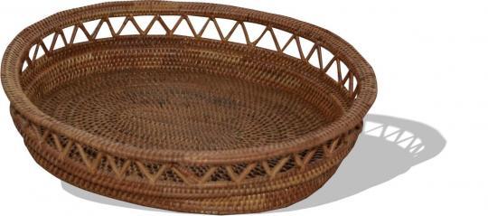 Brotkorb oval mit durchbrochenen Stäben Länge 20 cm x Breite 16 cm x 5,5 cm hoch