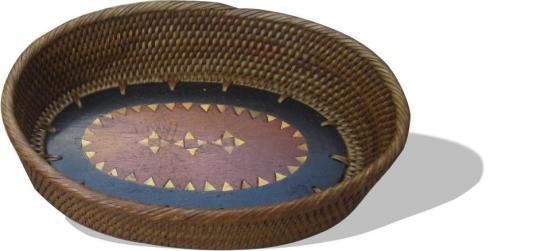 Ovale kleine Beilagenschale mit schönen Intarsien