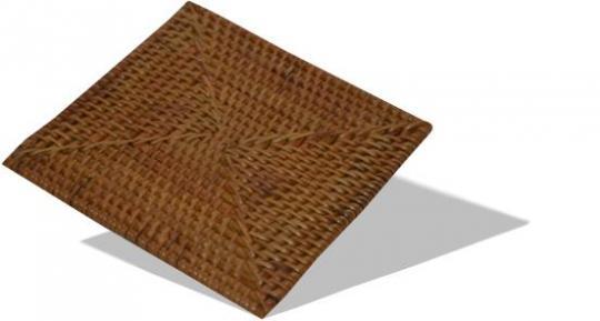 Glasuntersetzer in quadratischer Form